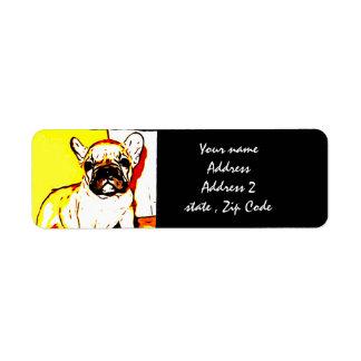 French Bulldog Art Return Address Label