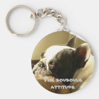 French bulldog attitude keychain