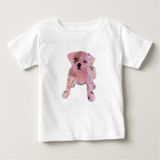 French bulldog Baby White T shirt Fine Jersey