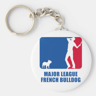 French Bulldog Basic Round Button Keychain