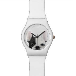French Bulldog black and white original watch
