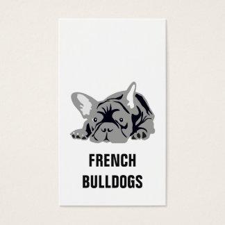 French Bulldog Black Business Card