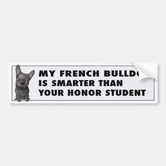 French Bulldog (Black) Honour FB1 Bumper Sticker