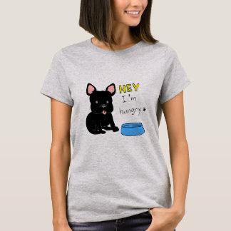French bulldog(black)-hungry T-Shirt
