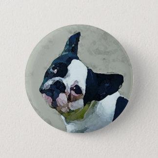 French Bulldog Black/White 2 Inch Round Button