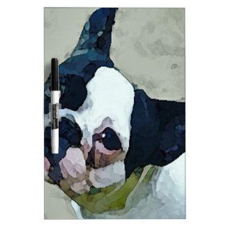 French Bulldog Black/White Dry Erase Board