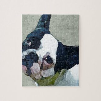 French Bulldog Black/White Jigsaw Puzzle