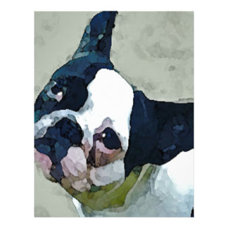 French Bulldog Black/White Letterhead