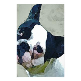 French Bulldog Black/White Stationery