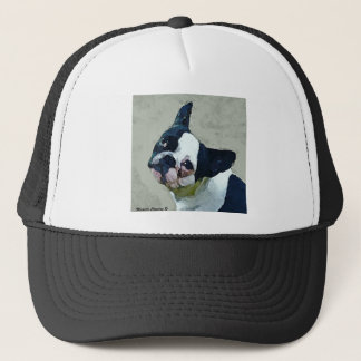 French Bulldog Black/White Trucker Hat