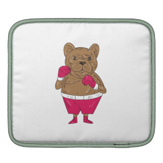 French Bulldog Boxer Boxing Stance Cartoon iPad Sleeve