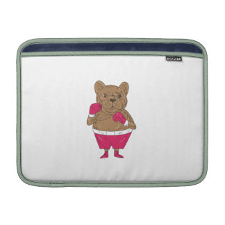 French Bulldog Boxer Boxing Stance Cartoon Sleeves For MacBook Air