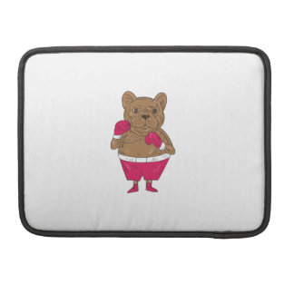 French Bulldog Boxer Boxing Stance Cartoon Sleeves For MacBooks