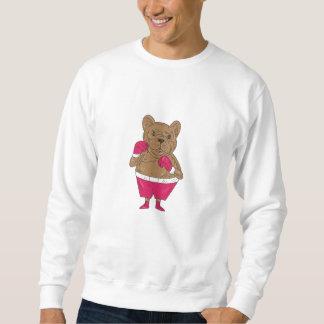 French Bulldog Boxer Boxing Stance Cartoon Sweatshirt