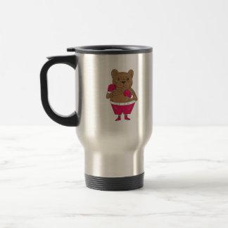 French Bulldog Boxer Boxing Stance Cartoon Travel Mug