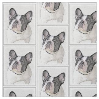 French Bulldog (Brindle Pied) Fabric