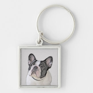 French Bulldog (Brindle Pied) Keychain