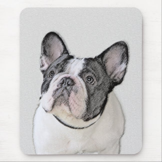 French Bulldog (Brindle Pied) Mouse Pad