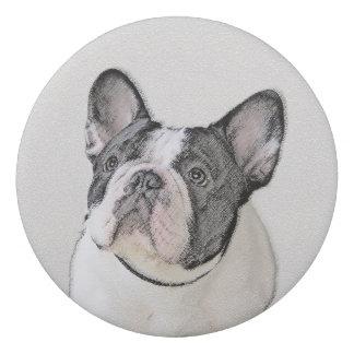 French Bulldog (Brindle Pied) Painting - Dog Art Eraser