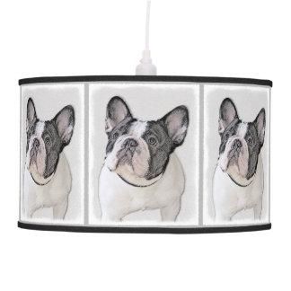 French Bulldog (Brindle Pied) Painting - Dog Art Pendant Lamp