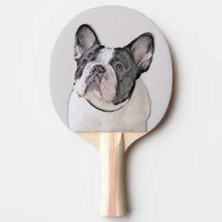 French Bulldog (Brindle Pied) Ping-Pong Paddle