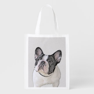 French Bulldog (Brindle Pied) Reusable Grocery Bag