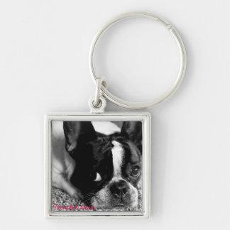 French Bulldog Button Keychain