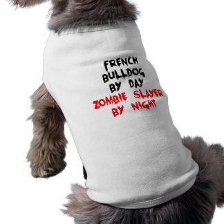 French Bulldog by Day Zombie Slayer by Night Dog Tshirt