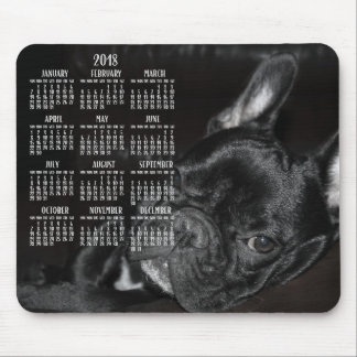 French Bulldog Calendar 2018 Mouse Pad