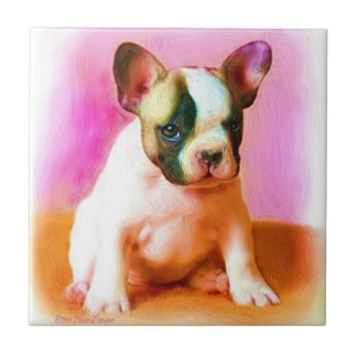 French Bulldog Ceramic Tile