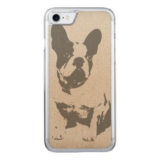 French Bulldog Cherry Wood iPhone Case