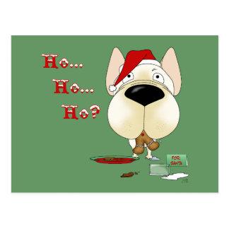 French Bulldog Christmas Postcard