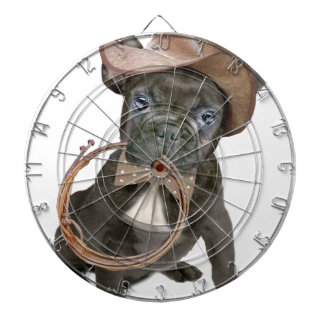 FRENCH BULLDOG country boy Dartboard