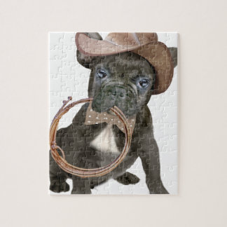 FRENCH BULLDOG country boy Jigsaw Puzzle