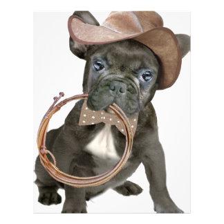 FRENCH BULLDOG country boy Letterhead