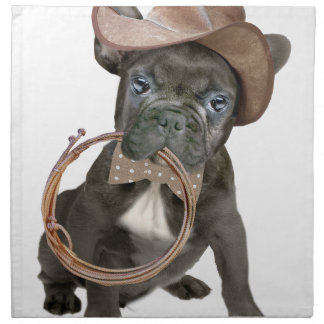 FRENCH BULLDOG country boy Napkin