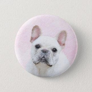 French Bulldog (Cream/White) 2 Inch Round Button