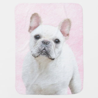 French Bulldog (Cream/White) Baby Blanket
