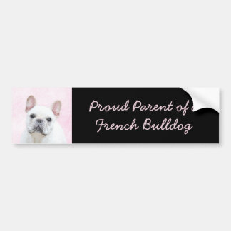 French Bulldog (Cream/White) Bumper Sticker