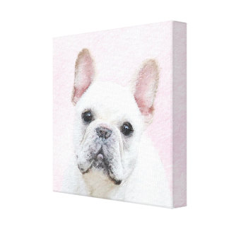 French Bulldog (Cream/White) Canvas Print