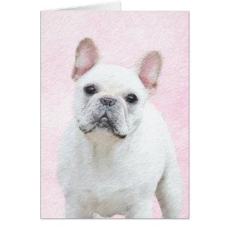 French Bulldog (Cream/White) Card
