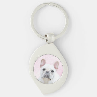 French Bulldog (Cream/White) Keychain