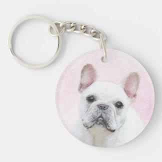 French Bulldog (Cream/White) Keychain
