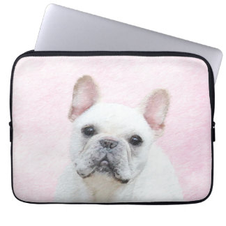 French Bulldog (Cream/White) Laptop Sleeve