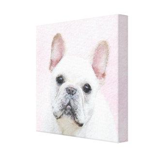 French Bulldog (Cream/White) Painting - Dog Art Canvas Print