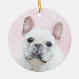 French Bulldog (Cream/White) Painting - Dog Art Ceramic Ornament