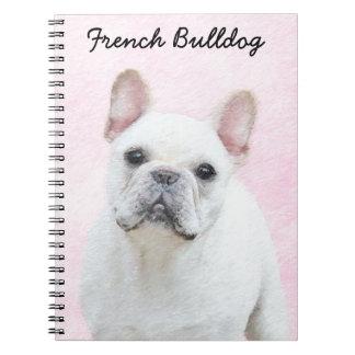 French Bulldog (Cream/White) Painting - Dog Art Notebook