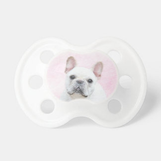 French Bulldog (Cream/White) Painting - Dog Art Pacifier