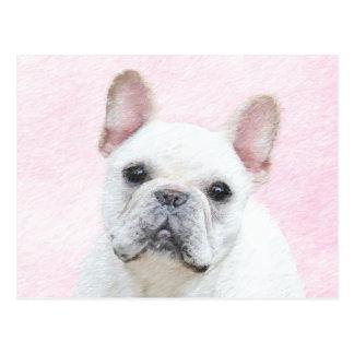 French Bulldog (Cream/White) Painting - Dog Art Postcard