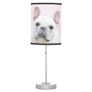 French Bulldog (Cream/White) Painting - Dog Art Table Lamp